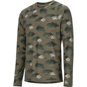 Marmot Harrier T-shirt Manches longues Col ras-du-cou Léger Homme, camping camo